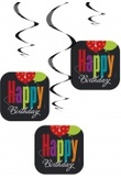 Lotto di 3 decorazioni da appendere Happy Birthday