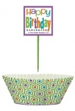 Kit multicolor per cup cakes Happy Birthday
